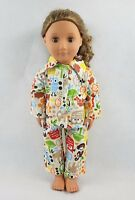 Owl Monkey Pattern Pajamas Sleepwear For 18''American Girl Doll Clothes Gifts