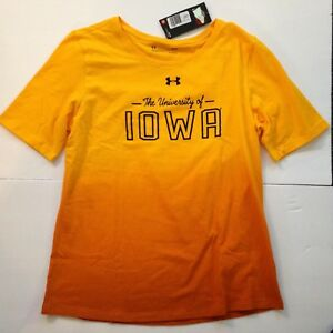 NEW-XXL-University-of-Iowa-Hawkeyes-Under-Armour-Womens-T-Shirt-2X-Tee