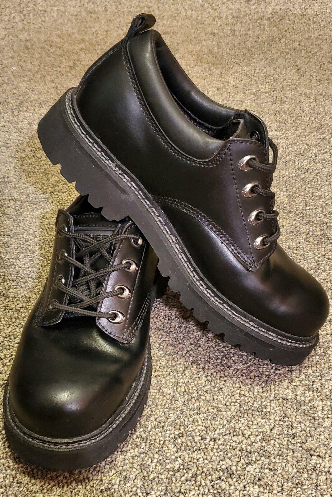 Sketchers Men's Shoe Size 8EW Cool Cat Pixel Oxford Black-SN 60101