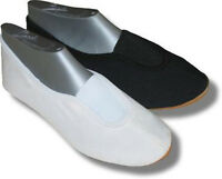 Ballett - Schuhe /Turnschläppchen / Gymnastikschuhe * 23 - 48 * schwarz/weiß