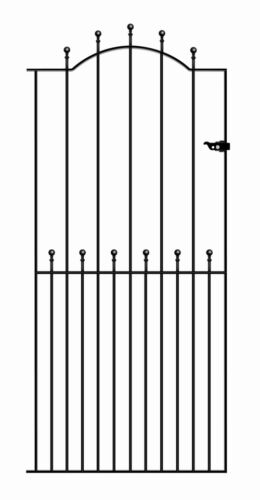 Malaca Ball Top Tall Garden Side Gates 762mm to 1220mm gap Wrought Iron Metal
