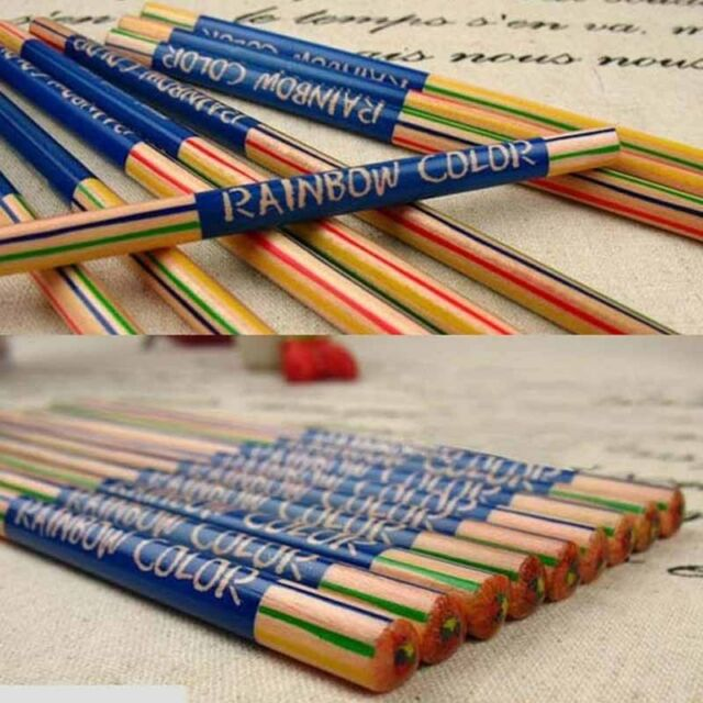10pcs Rainbow Color Pencil 4 in 1 Colored Drawing Painting ...