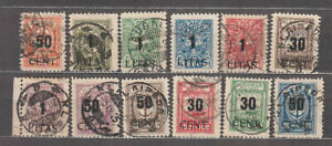 Memel-Occupation-Lithuanian-Table-Mail-Yvert-157-68-Or