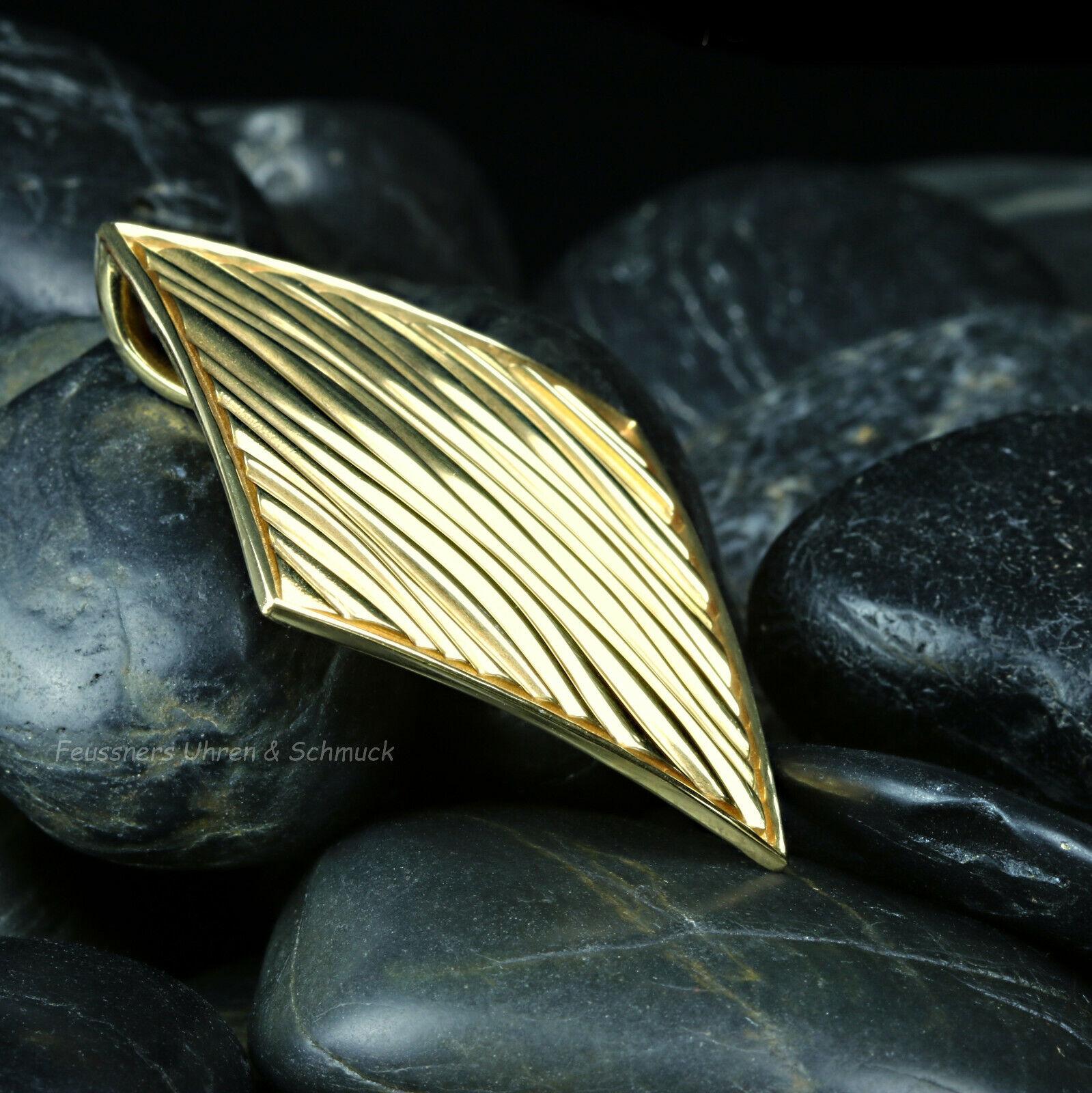 Kohha Anhänger Baltic golden - Nsilver 925 vergoldet Design Modernist