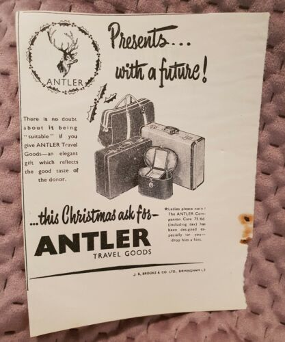 Antler Travel Goods Vintage Advertisement