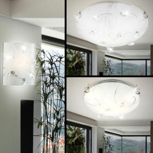 Decken Wand Lampe Leuchte Glas Kristalle Beleuchtung Wohn Zimmer Big Light