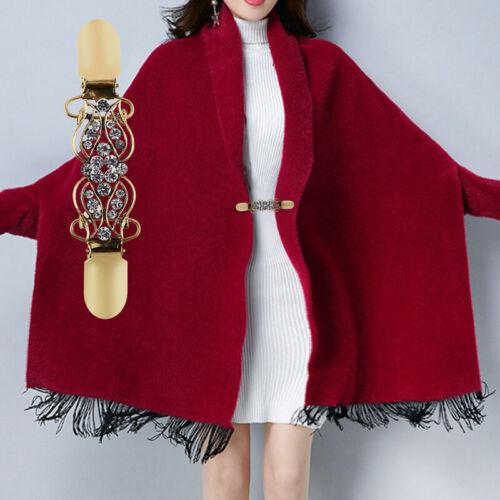 Bowknot//Flowers Sweater Shirt Shawl Clips Cardigan Collar Dress Cinch Clip Metal