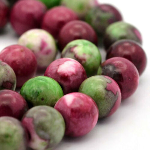 15 Jade Beads 8mm Ocean Jade Dyed Gemstone Beads BD887