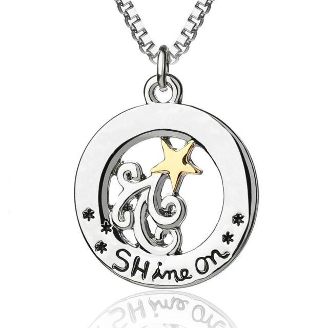 *UK* 925 Silver Plt /'Shine Bright Like A Diamond/' Pendant Necklace