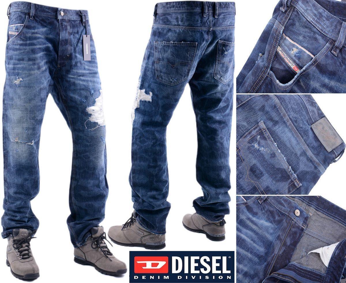 DIESEL PROTOTIPI TORINO W33 L31 ex-campione da uomo in denim Jeans Regular Fit Str.
