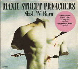 Manic-Street-Preachers-Slash-N-039-Burn-limited-edition-Gold-CD-single
