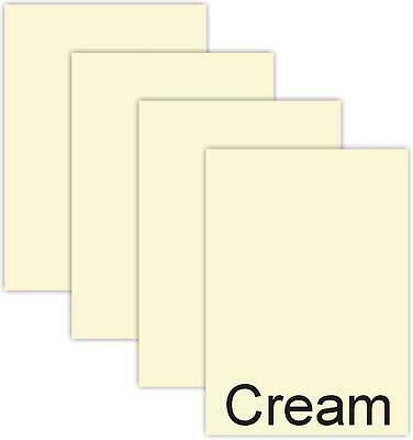 Deftig 100 A4 Sheets Plain Ivory / Cream Thick Craft Card 250gsm Card Stock Jade Wit