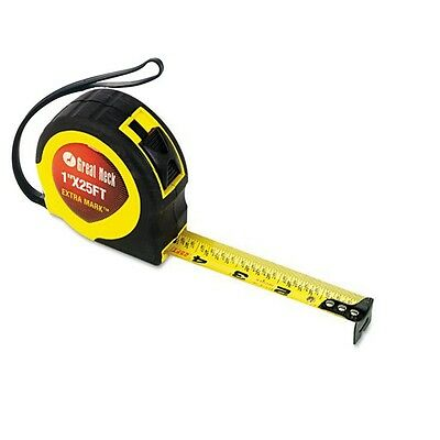 "Heavy Duty 25 ft x 1"" English & Metric Tape Measure Measuring  7.5m cm mm foot"