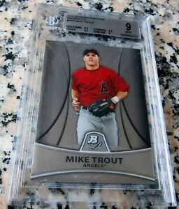 MIKE-TROUT-2010-Bowman-Platinum-Rookie-Card-RC-BGS-9-9-5-Angels-ROY-AS-MVP-HOT