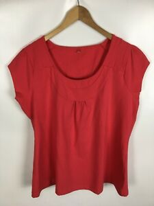 S-OLIVER-T-Shirt-rot-Groesse-48-50-Baumwolle