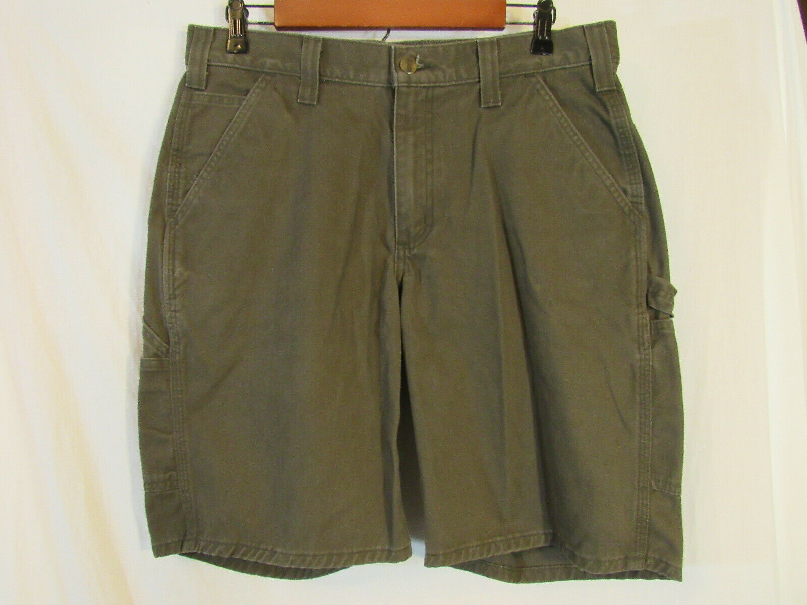 """NEW MENS CARHARTT WASHED TWILL DUNGAREE SHORT SIZE 48 50 10/"""" INSEAM 100245-253"""