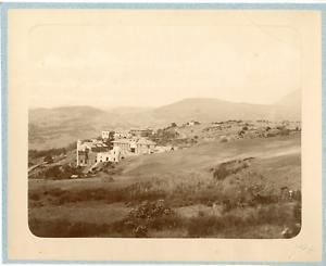 Geiser-Algerie-Vue-panoramique-sur-un-village-arabe-Vintage-albumen-print