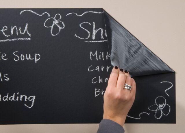 110cm x 45cm Self Adhesive Blackboard Vinyl Wall Sticker Removable Kids Office