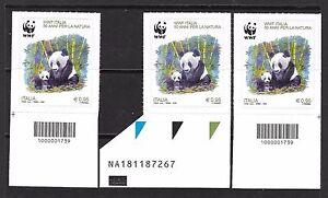 2016-WWF-ITALIA-50-anni-NATURA-PANDA-TRITTICO-Codici-barre-e-Codice-AlfaNum