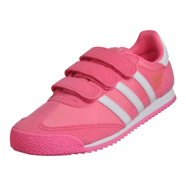 dc28d526e0ea NIB - Adidas Originals Dragon OG CF Girls Kids Sneakers - Pink White - Size
