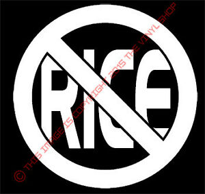 No Rice Decal Sticker Muscle Car Jdm Hella Flush Ricer Muscle Car