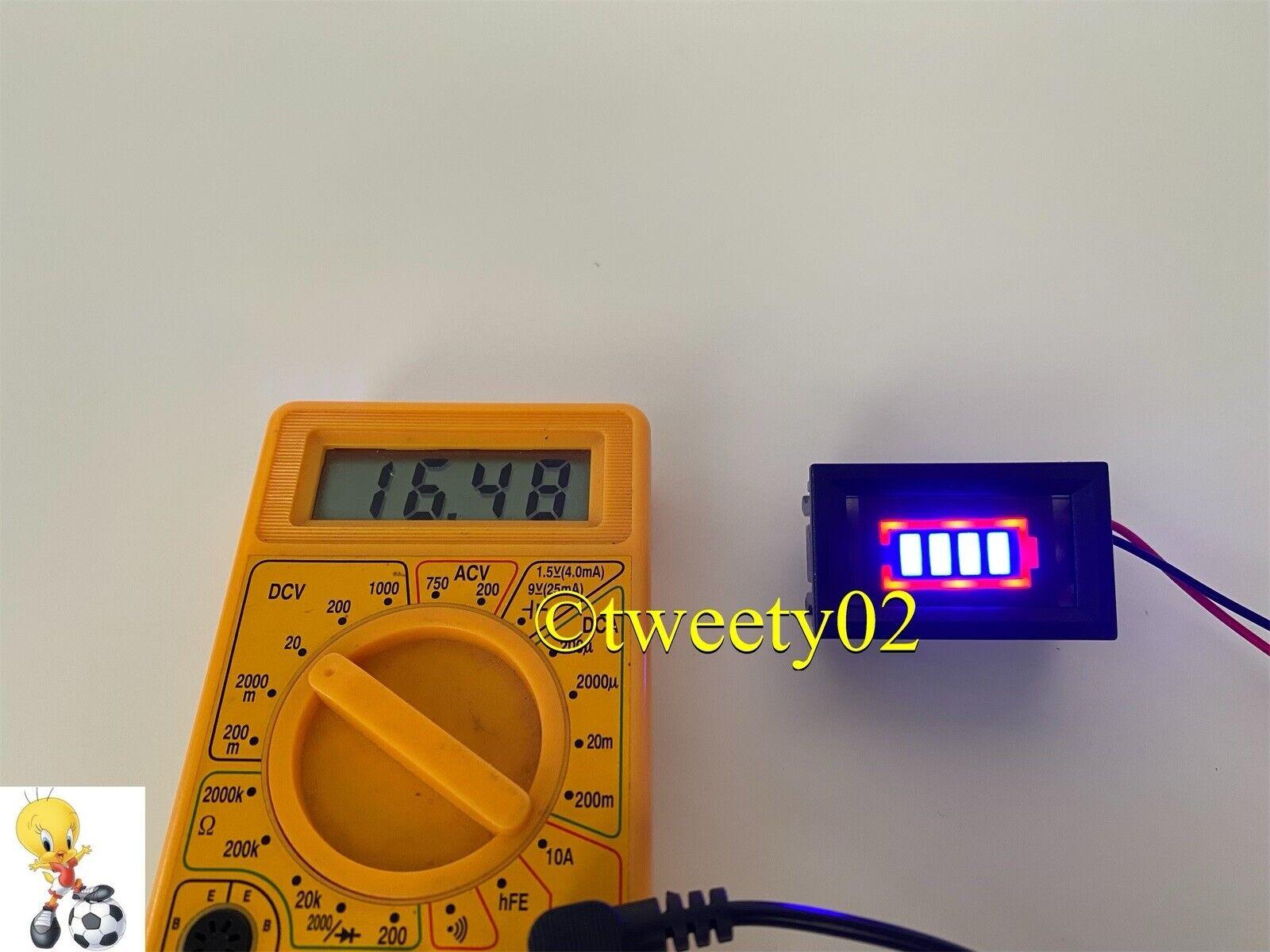 Battery Power Tester Li-po Li-ion 13.2V-16.8 V