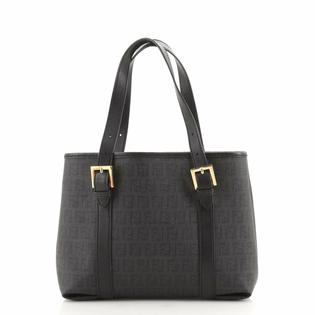 Fendi Belted Handle Tote Zucchino Coated Canvas Small    eBay