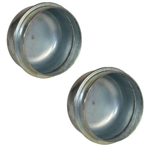 2 x 50mm Metal Grease Dust Hub Caps for Trailer Wheels