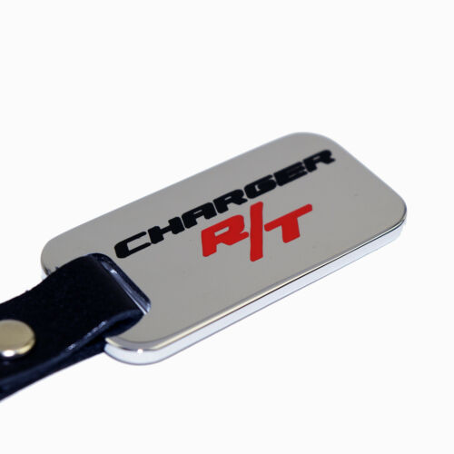 Charger R//T Chrome Key Chain Fob USA Black /& Red Engraving Solid Brass