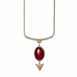 Natural red oval ruby stone arrow snake chain 18k gold plated image is loading natural red oval ruby stone arrow snake chain aloadofball Images