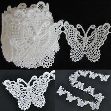 Vintage White Butterfly Lace Edge Trim Ribbon Applique Sewing Wedding Crafts
