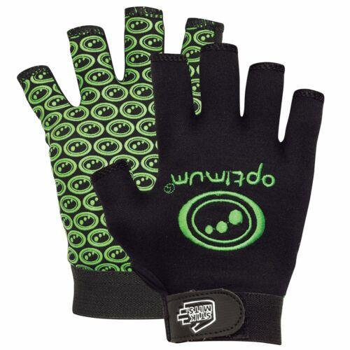 Black Fluro Green sz small boys Optimim Stik Mit Tribal Rugby Glove