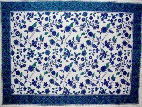 """Fleur De Lis Cotton Table Placemat 19/"""" x 13/"""" Blue"""