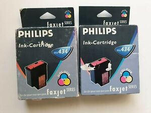 Philips-PFA-434-x-2-Genuine-Colour-Ink-Cartridges-For-Faxjet-Series-Philips