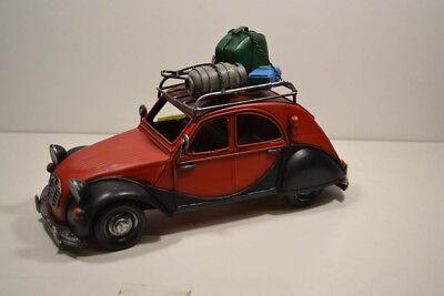 28 X 11 X 16 Cm France Ente Energisch Blech-auto Herausragende Eigenschaften Rot/schwarz 3