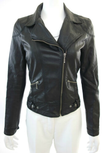 Authentic ZARA WOMEN FAUX LEATHER BIKER JACKET BLA