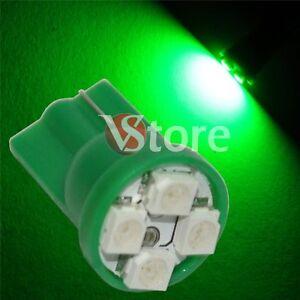 2-LED-T10-4-SMD-VERDE-Lampada-Posizione-Luci-e-Targa-Per-Fari-XENON-5W