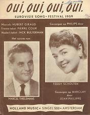 TEDDY SCHOLTEN - OUI, OUI, OUI, OUI (EUROVISION 1959 BLADMUZIEK)