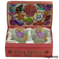 Shells On Shore Boxed Shot Glass Set (set Of 2)