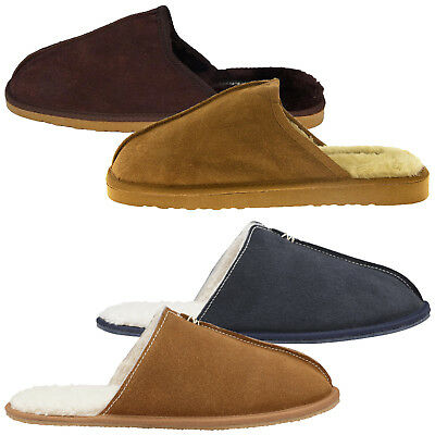 Beliebte Marke Mens Dunlop Brandon Or Amadieu Slipper Fleece Lined Luxury Faux Suede Mule Shoes Klar Und GroßArtig In Der Art