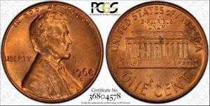 1968-S DDO PCGS MS64RD Lincoln Cent - RicksCafeAmerican.com