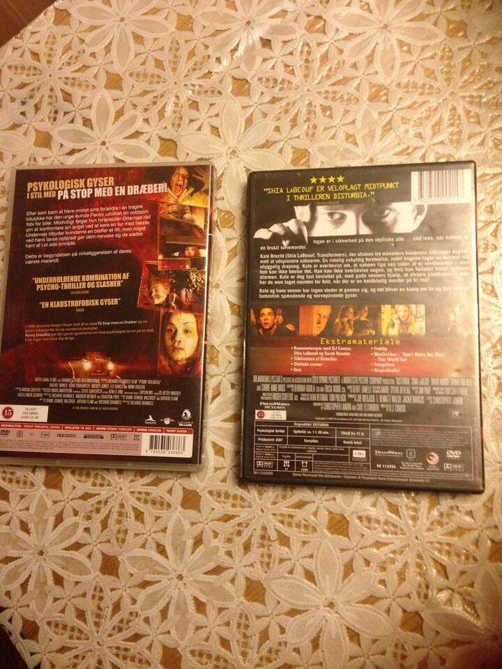 Disturbia og Penny Dreadful, DVD, gyser