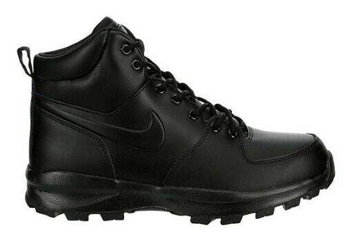 Nike Men's Size 10 Manoa Leather Work BOOTS Shoes Black 454350 003