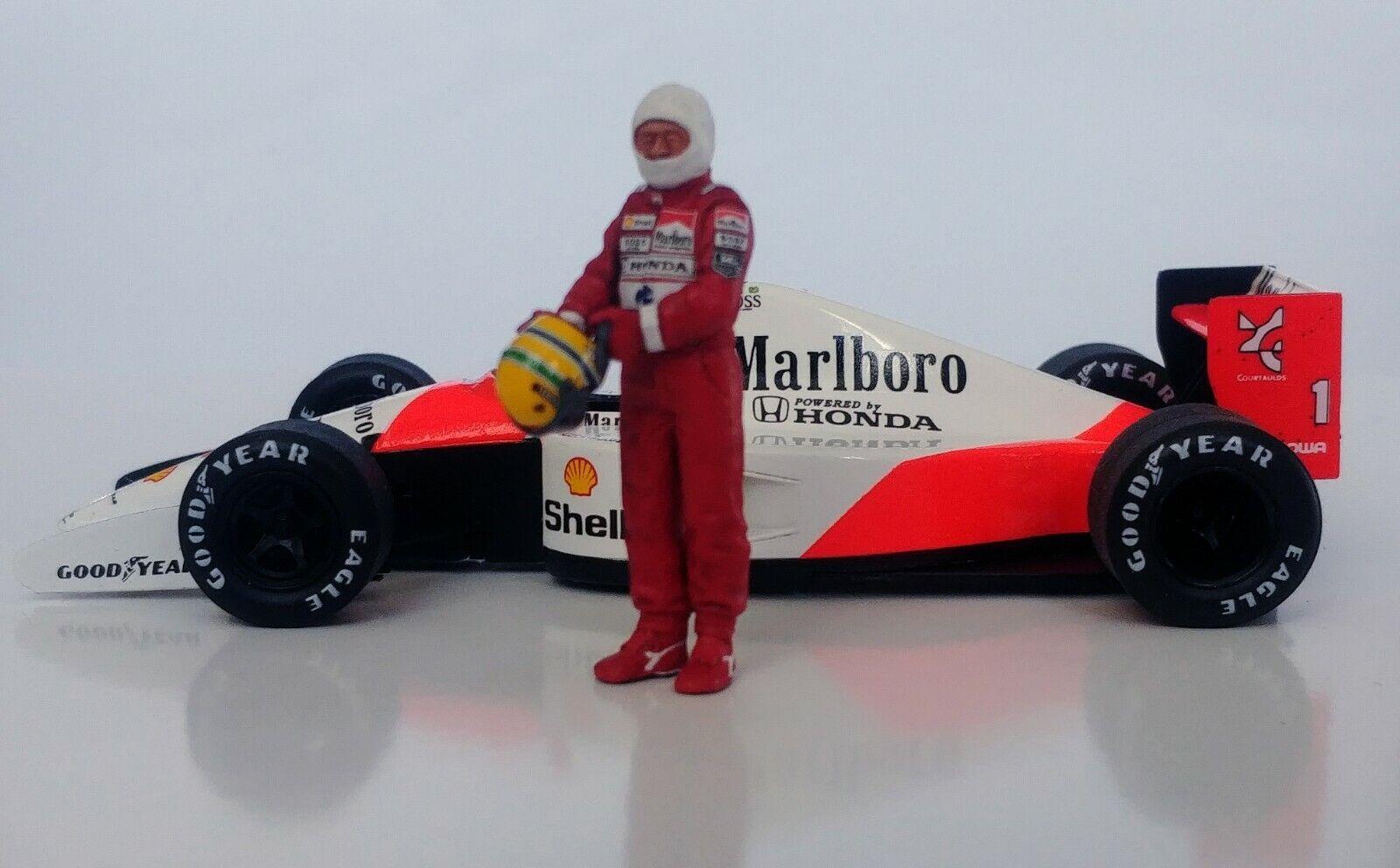 1 43 Ayrton Senna McLaren Honda figurine figure 1988 1990 1991 mettre sur Casque