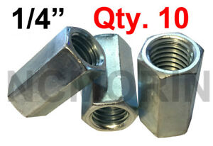 Hex Rod Coupling Nut with Zinc Plate 16 Hex Coupling Nuts 1//4-20 x 7//8 Threaded Rod Connector Hex Coupling Nut Coupling Nuts 1//4-20 x 7//8 Long Coupling Nut