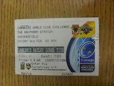 03/02/2006 Ticket: Rugby League - World Club Challenge - Bradford v Wests Tigers