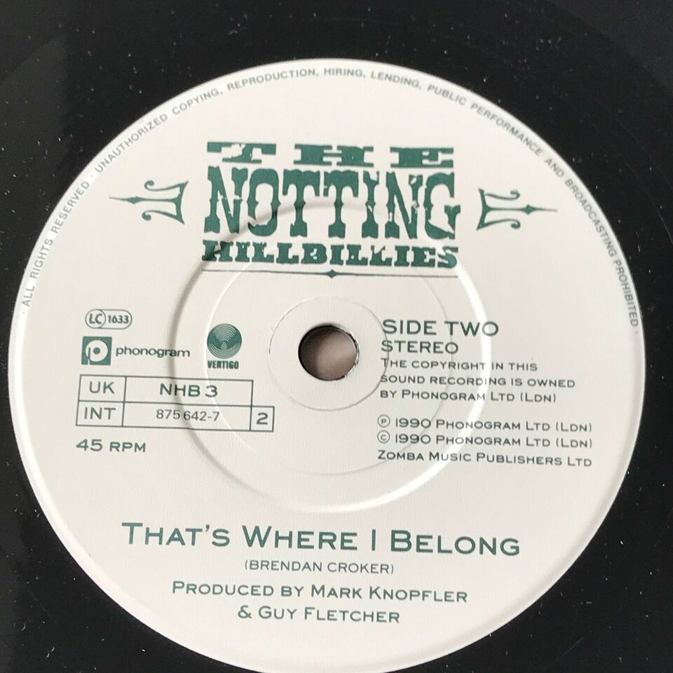 Single, The Notting Hillbillies, Will You Miss Me/That's