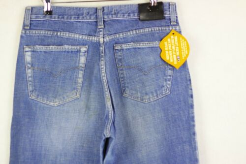 W34 Spa Mens Faded Versace Vintage Blue Buttons P47 Ittierre Jeans L32 Couture pzB0qwOY