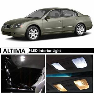 10x white interior map dome led lights package kit fit - 2006 nissan altima interior led lights ...