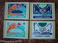PHQ Card set FDI (Back) No 161 Channel Tunnel, 1994. 4 card set.  Mint Condition